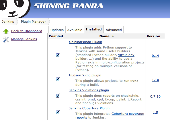 ShiningPanda - Multi-browser Selenium tests with Django 1 4+